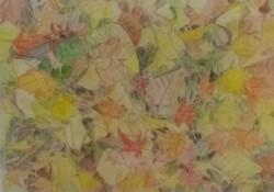松山知子「秋色」色鉛筆F4