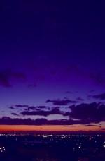 台風の後の夕映えの空