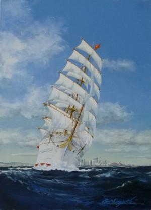 帆船  絵画 初代日本丸 P1060687sml