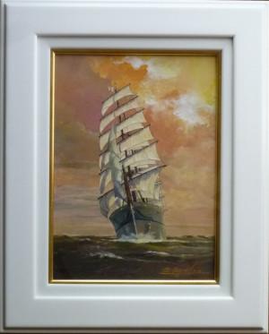 帆船  絵画P1060695trm