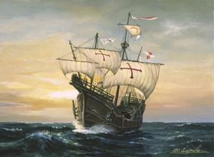 帆船絵画 サンタマリア号 Santa_maria