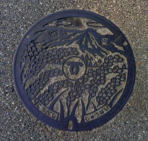 マンホールのふた 神戸市西区 稲穂をデザイン Koube_inaho