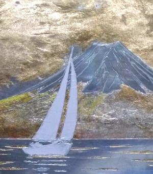 富士山とヨット 年賀状 Blog_fuzi