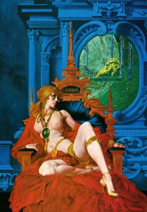 「ヘロディア」 キャンバス リキテックス P20号 徳間書店発行のSF小説シリーズ 「SFアドベンチャー」1980年12月号 表紙絵 Ourai_noriyoshi_herodia