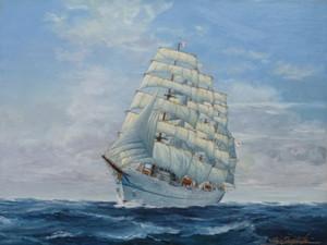 帆船絵画 日本丸 Nihonmaru