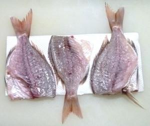 鯛の一夜干し 塩をする Tai_10