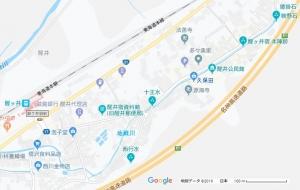 醒井 地図  Map_samegai