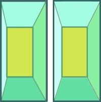 立体視 3D 四角錐台