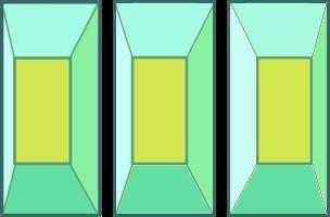 矩形の立体視