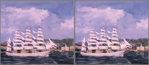 帆船 立体視 Hansen_h