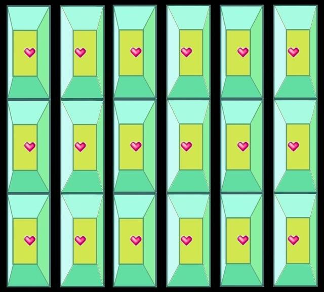 ハート 立体視 Heart_3d