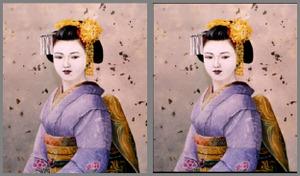 立体視画像  京都 祇園の舞妓さん