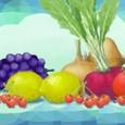 野菜と果物を描く