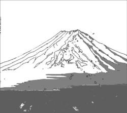 赤富士 下図