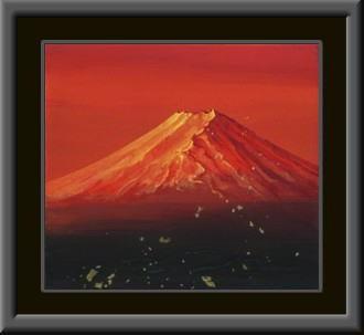 赤富士 色紙