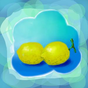 お絵描き レモン