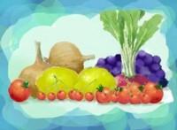 レイヤーを使って、野菜と果物を描く Vegt_06