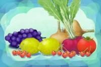 レイヤーを使って、 丸い野菜と果物を描く Vegt_fn2_sml