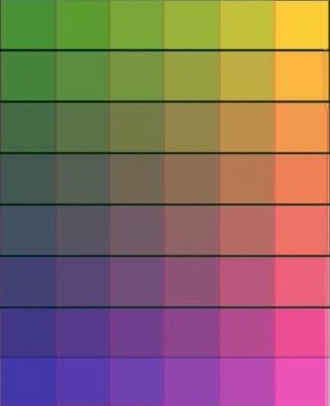 色の三原色で作れる色は