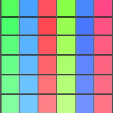色の三原色の補色