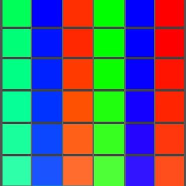 色の三原色の補色(光の三原色と同じです)