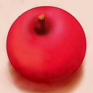 Painting an apple