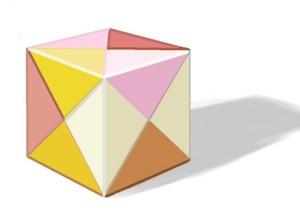 折り紙のサイコロ Cubic
