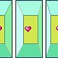 ハートの立体視  Heart_3_w00r
